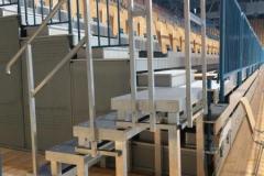 X gram zložljive stopnice - postavljene