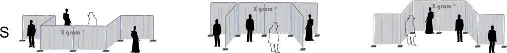 X gram Scenska konstrukcija - Postavitev sistem velikosti S