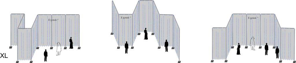 X gram Scenska konstrukcija - Postavitev sistem velikosti XL
